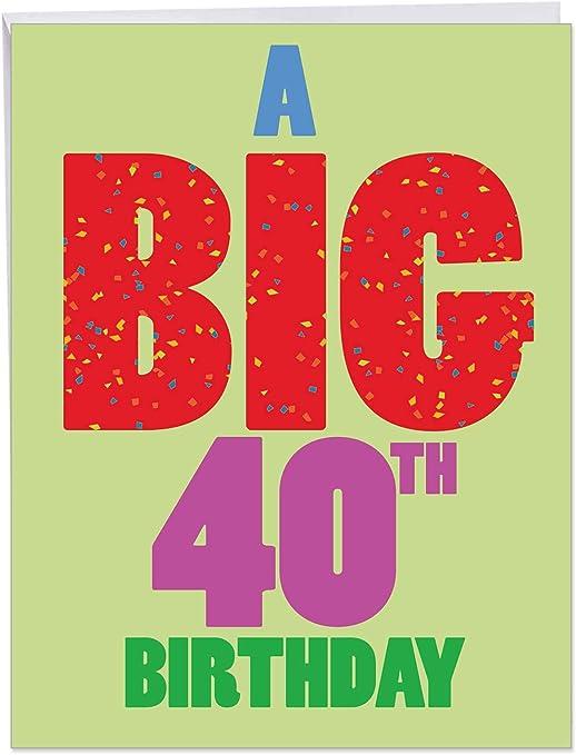"Amazon.com: P3939 Jumbo tarjetas divertidas ""Big 40 ..."