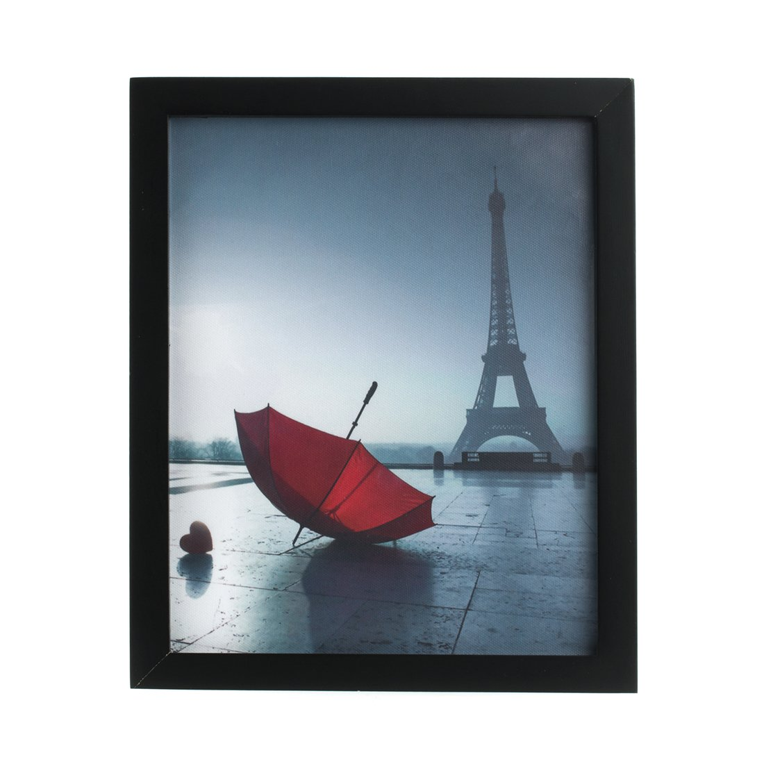 Eiffel Tower Paris Monochrome and Red Umbrella Canvas Art Print ...