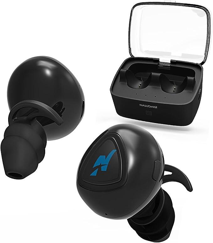 Auriculares Bluetooth, nasudake inalámbrico con cancelación de ruido in-Ear auriculares micrófono incorporado micrófono para correr
