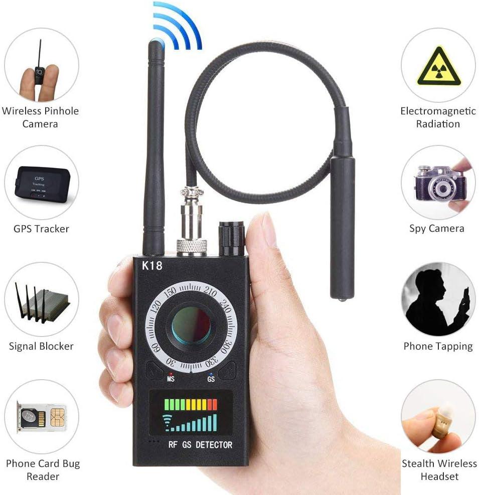 HoHoProv - Detector de insectos antiespía, localizador GPS, detector de cámara oculta, sensibilidad, dispositivo GSM multifuncional, escáner de radio, alarma de señal inalámbrica, detector de señal RF