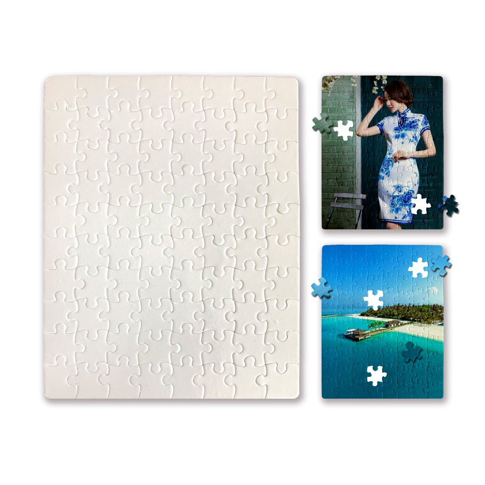 Blanks White DIY Custom Jigsaw Puzzle 80-Pieces 6 Puzzles per Package for Sublimation Heat Press Bosstop