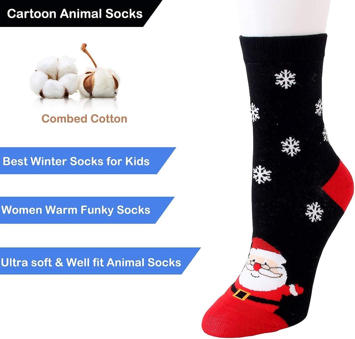 Calze a forma di animale motivo simpatico e divertente in cotone per donne e ragazze per linverno