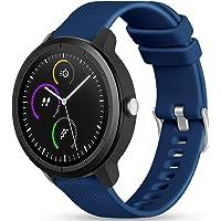 Vobafe 20mm Bandje Compatibel met Garmin Vivoactive 3, Zachte Siliconen port Horlogebandje Polsband voor Vivoactive 3…