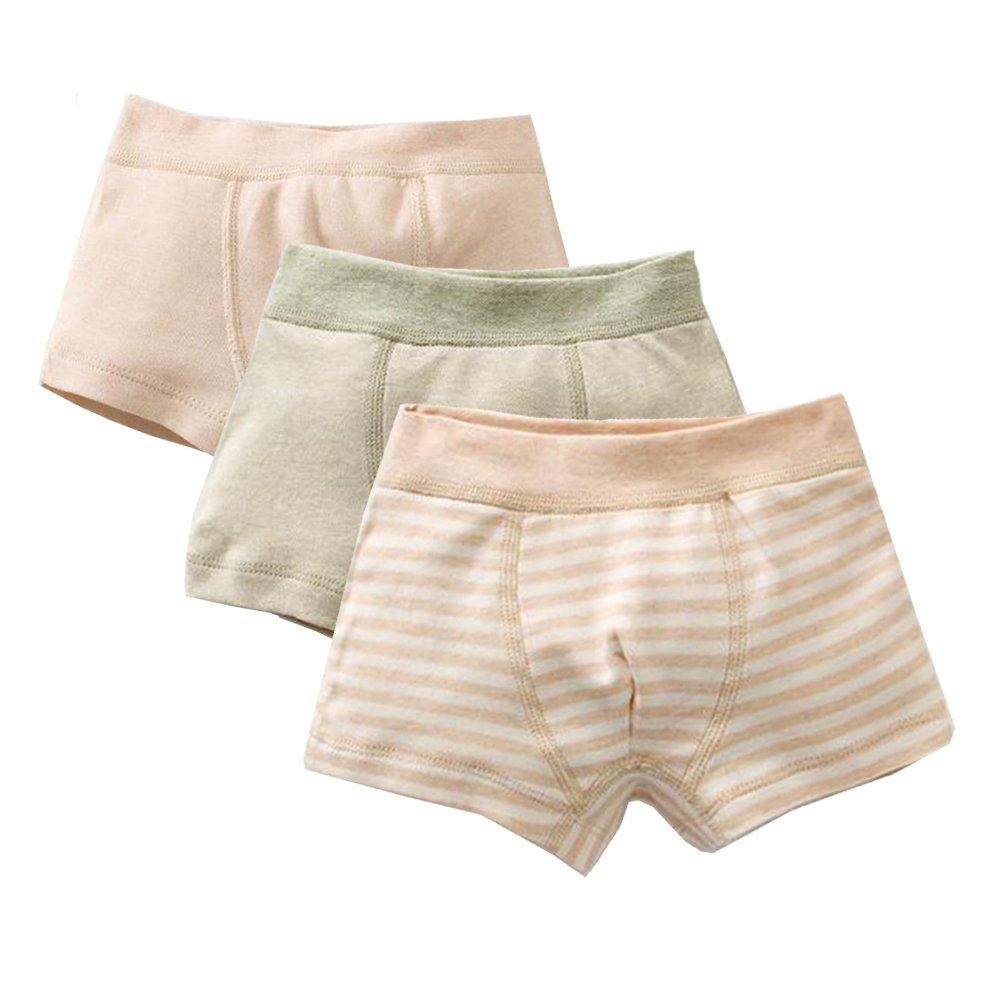 Zulaniu Baby Infant Girls Boys Organic Cotton Stripe Underwear Kids Briefs 3-Pack