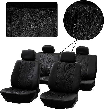 2x black headrest cover for Peugeot