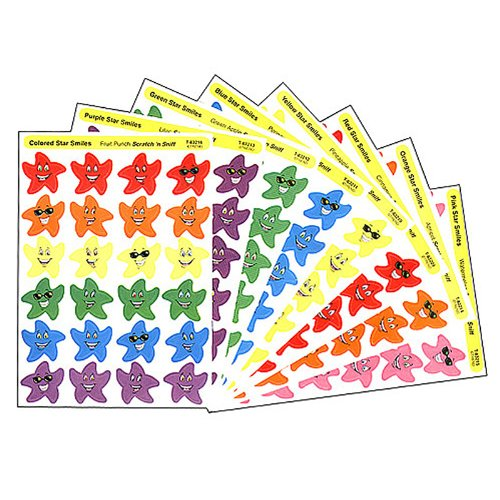 TREND ENTERPRISES INC. STINKY STICKERS SMILEY STARS 432/PK (Set of ()