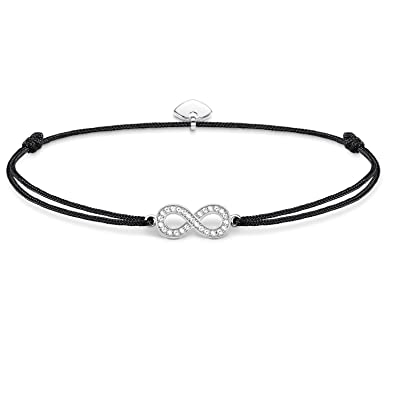 d9dd012fb17 Thomas Sabo Women-Bracelet Little Secrets 925 Sterling silver black  LS003-401-11-L20v: Amazon.co.uk: Jewellery