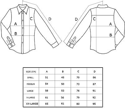 Relco Mens Black Lunares Manga Larga con Botones 100% Camisa de Algodón - Black & Blanco, S: Amazon.es: Ropa y accesorios
