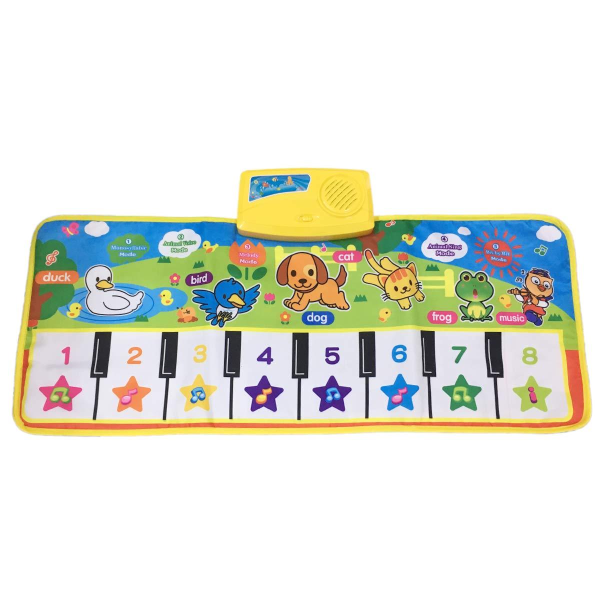 Fresh Household Piano Mat, Kids Music Mat Dance Mat Playmat Education Toy Birthday Christmas Easter Day Gift for Boys Girls