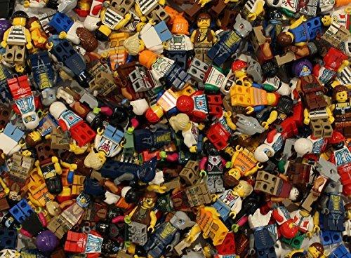 10 NEW LEGO MINIFIG PEOPLE LOT random grab bag of minifigure guys city town set