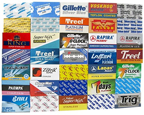 Blade Sample Pack - 35 Double Edge Razor Blades Sample Pack (1x each)