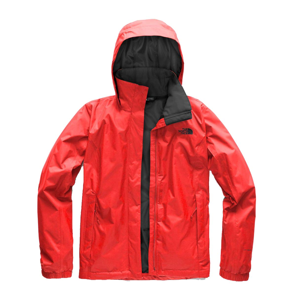 Juicy Red & Asphalt Grey The North Face Women's Resolve Jacket