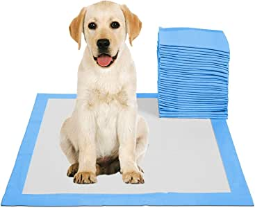 Disposable Absorbent Quick Drying Leak-Proof Pee Pads for Potty Training for Pets, 45x60cm M - 50 Pieces
