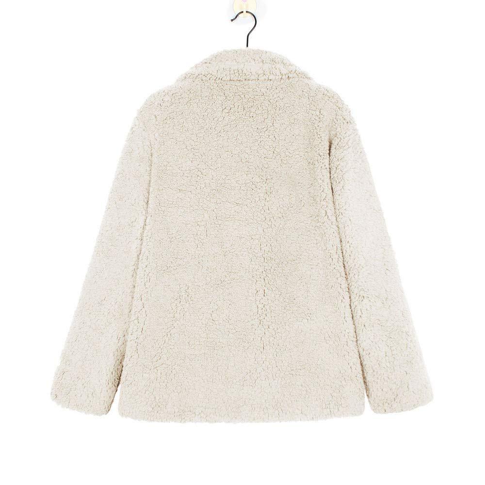 Rambling 2019 New Womens Casual Jacket Winter Warm Fleece Open Front Coat with Pockets Outerwear