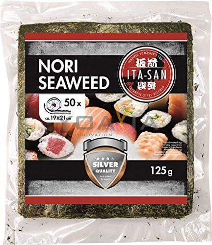 ITA de San algas, geröstet, para sushi, duran de 50 hojas, Nori ...