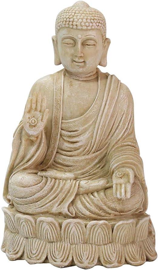 OAMORE Resina Estatua de Buda Decoración para jardín, Patio, terraza, Porche - Decoración de Arte en el Patio (001-1105102A): Amazon.es: Jardín