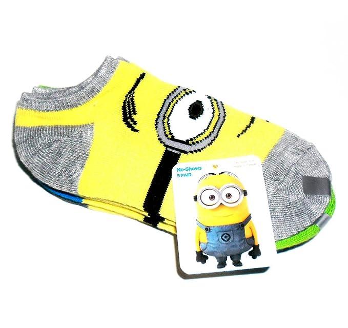 WOW! Minion (de GRU MI VILLANO FAVORITO) calcetines, 5 lote de, zapatos Clapton compatible con 6-8 5.: Amazon.es: Ropa y accesorios