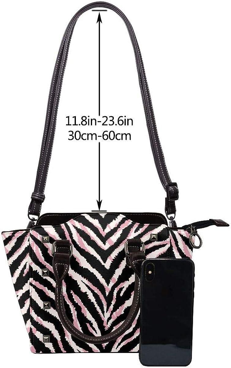 Zebra modello nero moda donna vera pelle rivetto borsa a tracolla ragazze viaggio scuola borsa Pelle Zebrata.