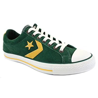 6a303b40bae866 Converse Star Player Ev Ox 129760C Unisex Suede Laced Trainers Green Gold -  7  Amazon.co.uk  Shoes   Bags