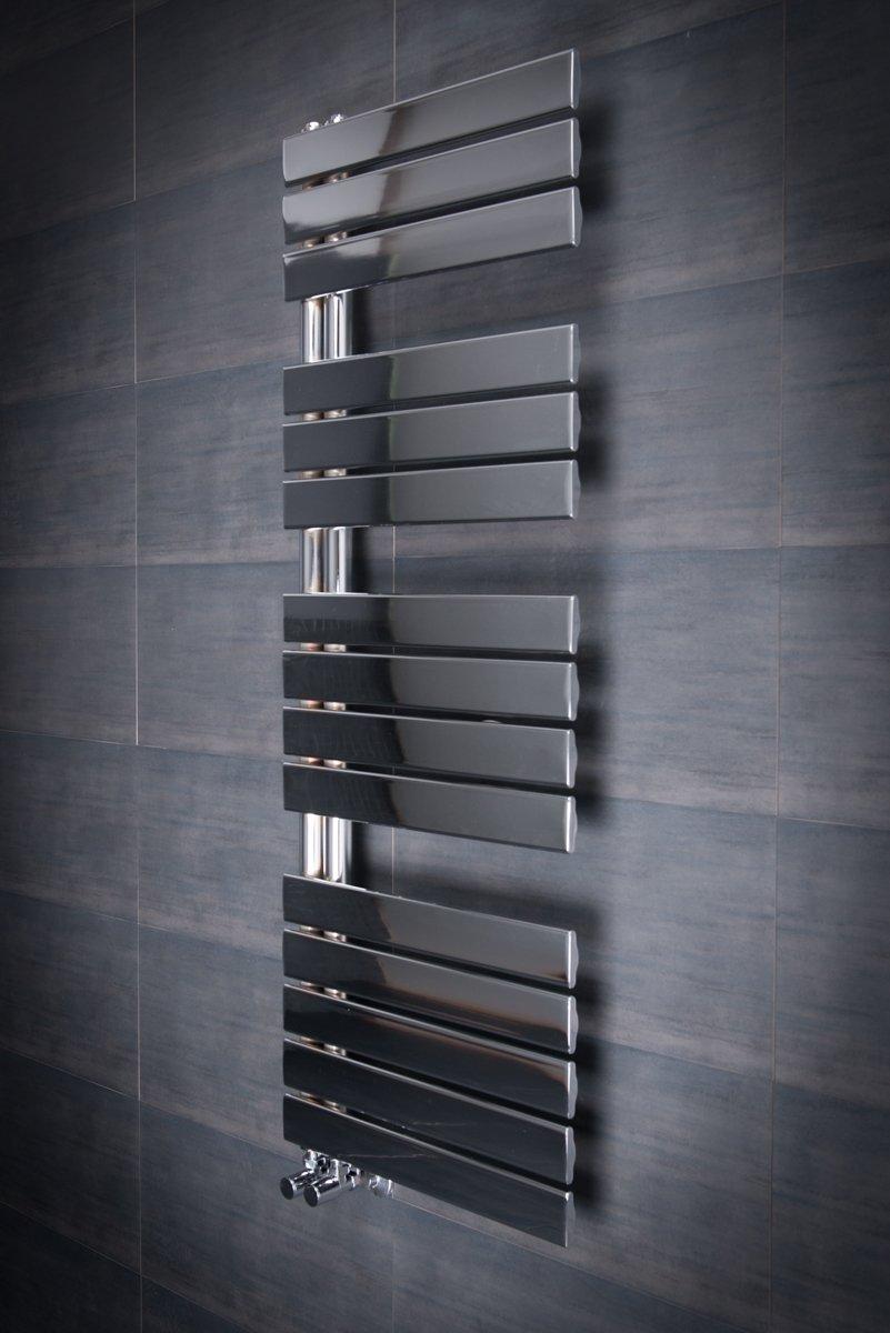 Designer Handtuchheizkörper Badheizkörper 1380x500mm Chrom: Amazon ...
