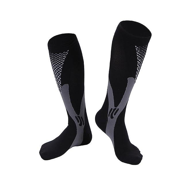 Compression Socks For Men & Women-20-30 mmhg Compression Knee Stockings Support Stretch Magic Football Running Socks