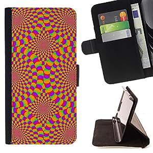 Jordan Colourful Shop - hypnotic wallpaper geometrical art design For HTC One M8 - < Leather Case Absorci????n cubierta de la caja de alto impacto > -