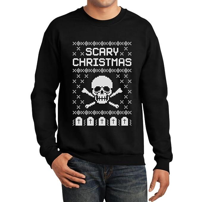 tstars teestars ugly christmas sweater skull scary christmas cool sweatshirt small black