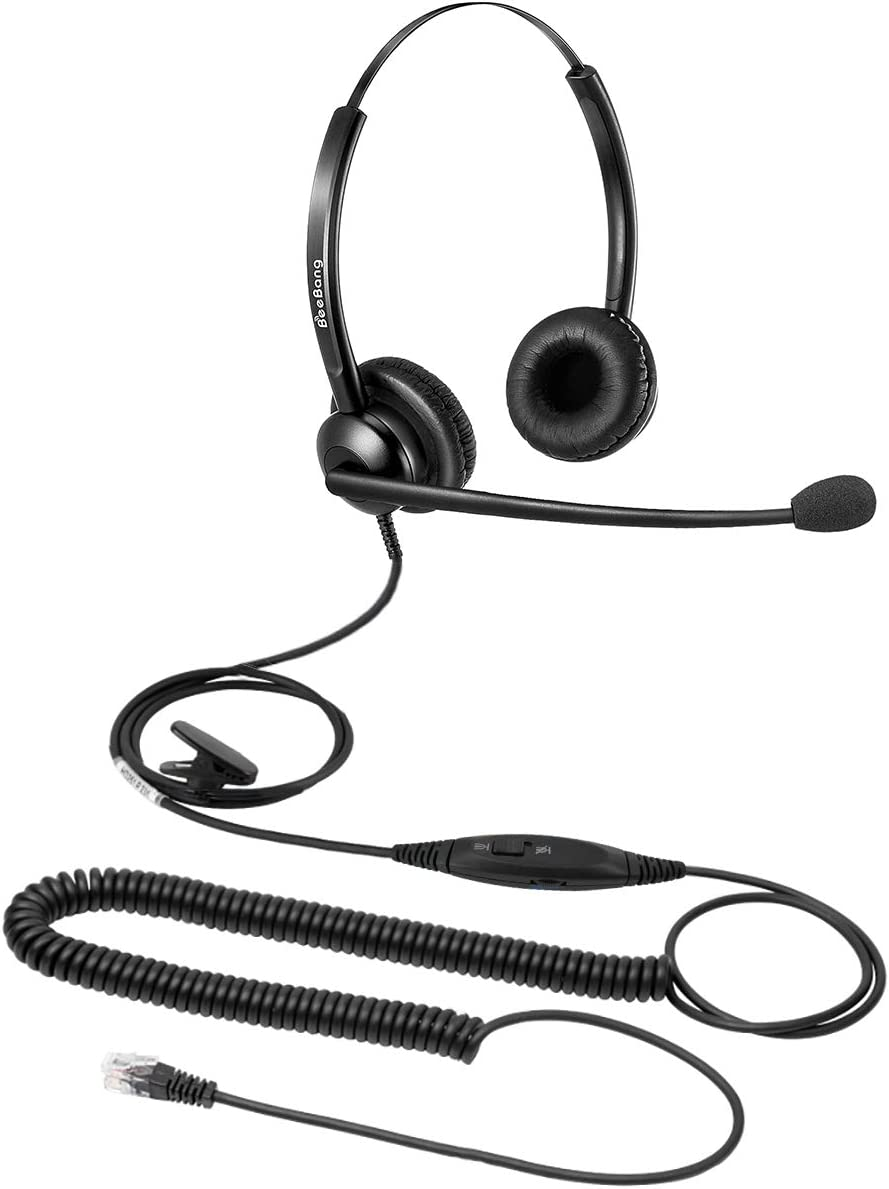 Cisco Headset RJ9 for Office Call Centers Telephone with Noise Canceling Microphone & Volume Mute Control for Cisco IP Phones 6941, 7841, 7942, 7945, 7960, 7961, 7962, 7965, 7970, 8841, 8845, 8945