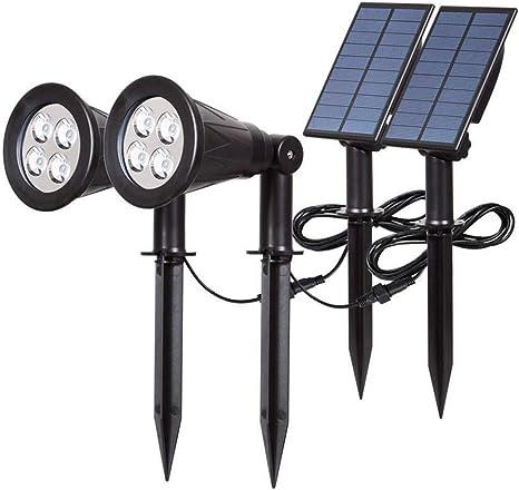 Impermeable Luces Solares, 4 LED Solar Proyector Ajustable Luz De ...