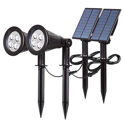 Proyector Solar para Jardines, 4 focos de luz LED para Exteriores ...