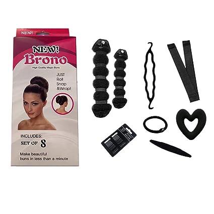 BronoMoldeador y accesorios para hacer moños de pelo, herramientas ...