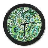 Paisley Vortex Pattern Wall Clock-9.65