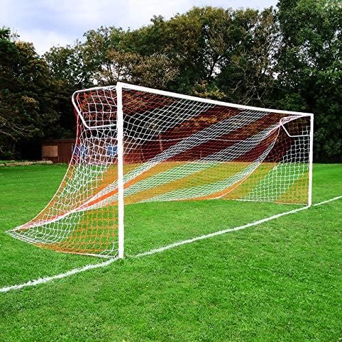 c28fe624c Striped Soccer Goal NET - White/Red - Official Full Size FIFA Spec - 24x8 /  24' x 8' (White/Red Soccer Net (Pair of Nets))