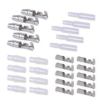 50Sets 4mm Bullet Automobile Crimp Terminal Wire Connectors w//Insulation Sheath