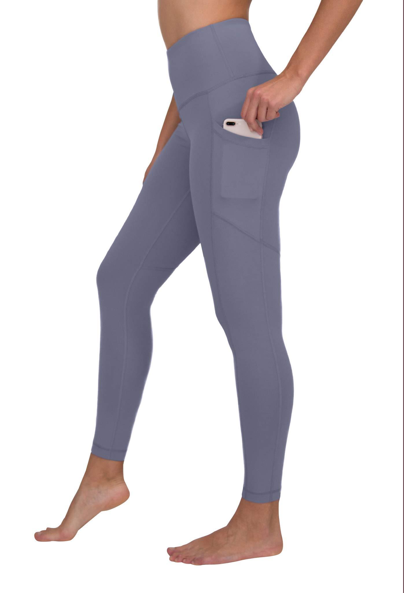 35de5af689a789 Galleon - 90 Degree By Reflex High Waist Interlink Yoga Pants - Blueberry  Ice - XS