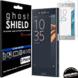 TECHGEAR [3 Pack] Screen Protectors to fit Sony Xperia X Compact [ghostSHIELD Edition] Genuine Reinforced Flexible TPU Screen Protector Guard Covers with Full Screen Coverage inc Curved Screen
