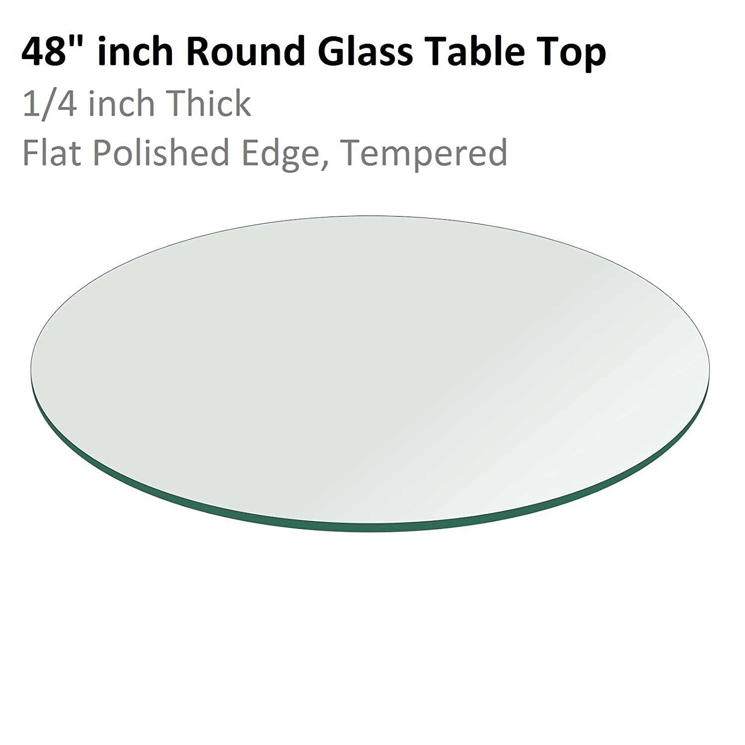 48 outdoor glass table top replacement - Amazon Com Fab Glass And Mirror 1 4 Thick Flat Polish Tempered Round Glass Table Top 38 Kitchen Dining