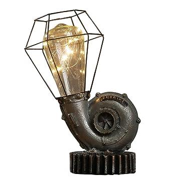 Luz de noche de la lámpara de la mesita de noche del ...