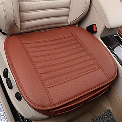 NetEra Car Seat CushionsBreathable PU Leather Bamboo Charcoal Comfortable Interior Cushions Covers