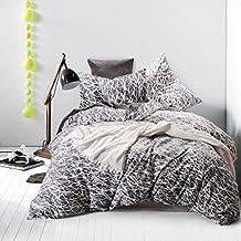100% Cotton, 3 Piece Duvet Cover and Pillow Shams Bedding Set (Queen Size)