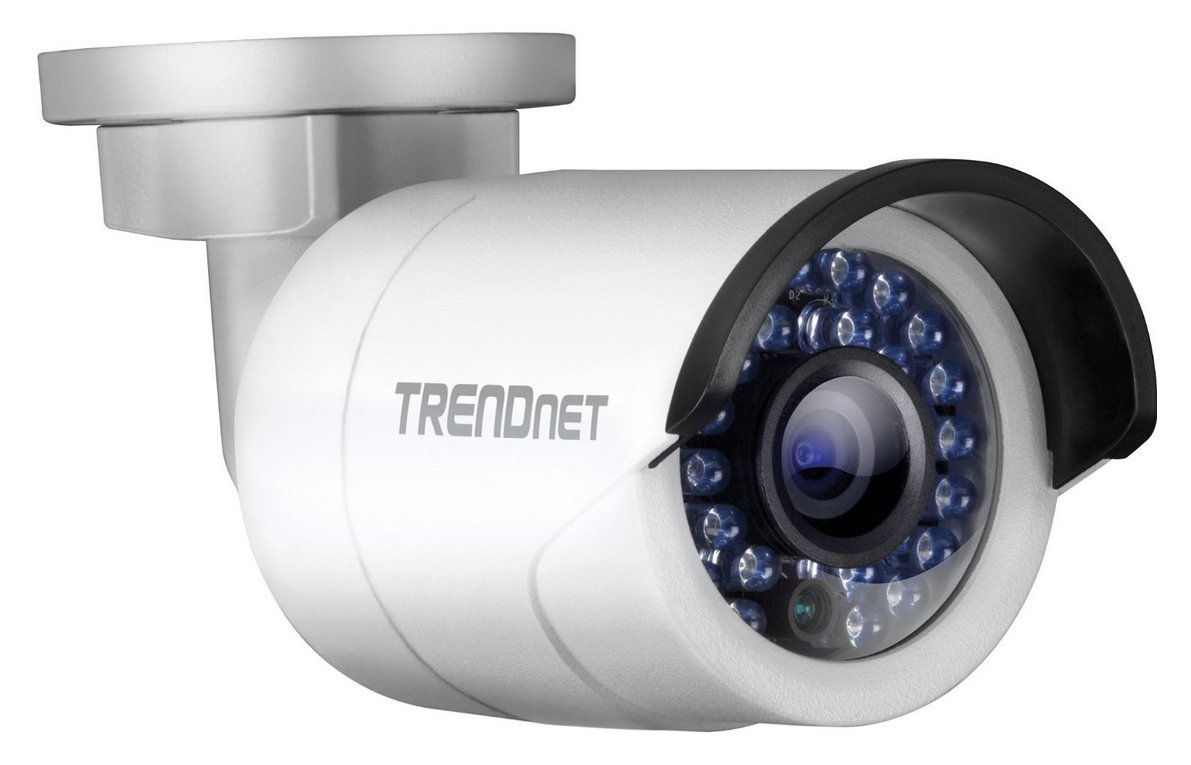 TRENDnet Indoor/Outdoor 1.3 Megapixel HD PoE IR Bullet Style Network Camera, Digital WDR, 720p, IP66 Rated Housing, 100ft. Night Vision, ONVIF, IPv6, TV-IP320PI by TRENDnet