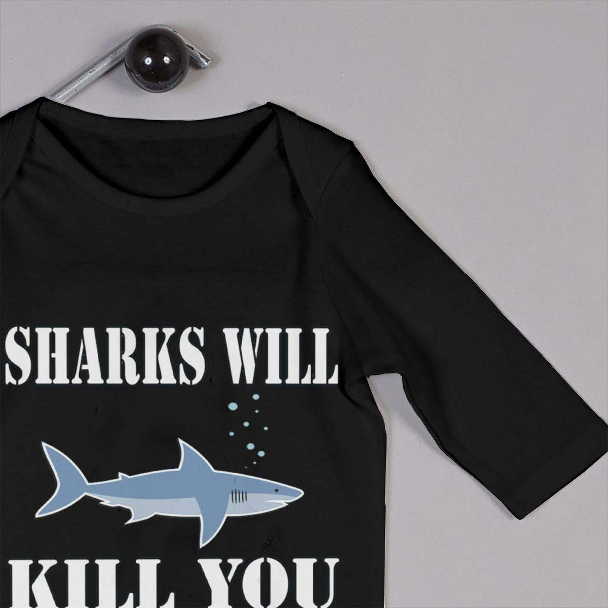 Sharks Will Kill You Newborn Baby Boy Girl Romper Jumpsuit Long Sleeve Bodysuit Overalls Outfits Clothes