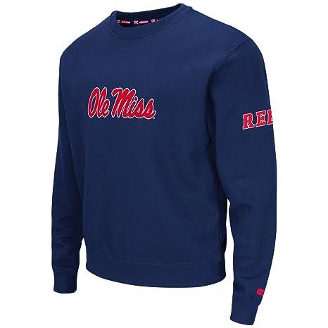 9d853a7a Amazon.com : Colosseum Men's Ole Miss Rebels NCAA Zone 2 Crewneck ...