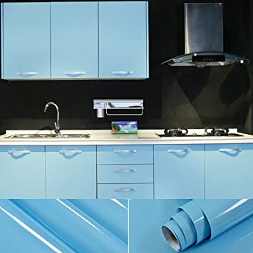 2 Stück 0,61x5,5M PVC Selbstklebend Möbel Klebefolie küchenschrank ...