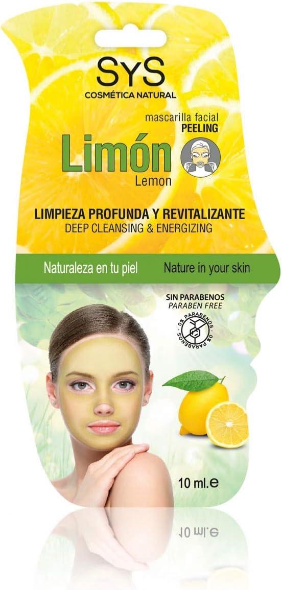 S&S Cosmetica natural MASCARILLAS FACIALES PEELING 10ml (LIMON)
