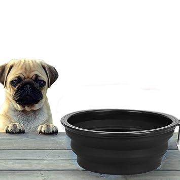 ITODA Cuenco portátil de moda para perro, gato, cachorro, cuenco de agua para