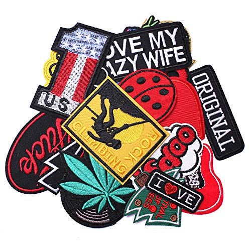 J.CARP Cool Embroidered Iron on Patches, Cute Sewing Applique, Music Style 22PCS