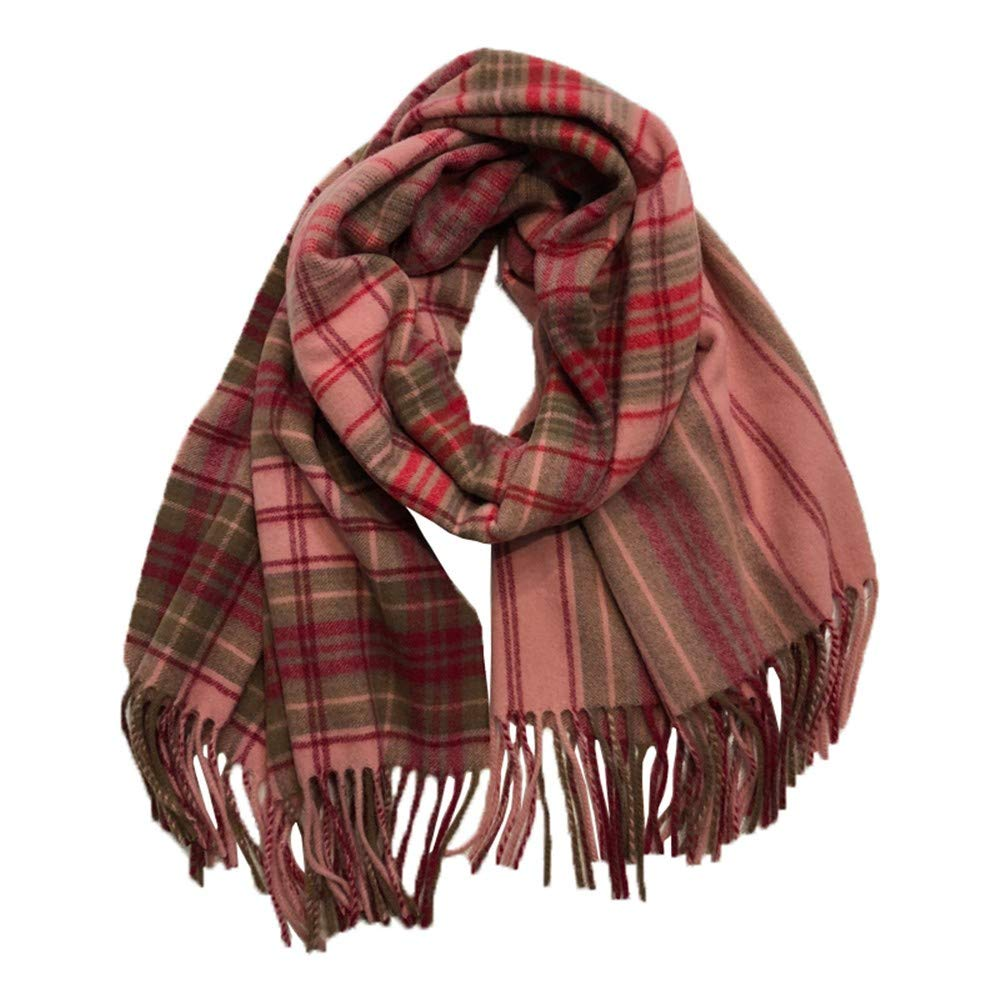 Hyy Scarf Scarf Female Winter Plaid Gradient Long Section Thick Couple Shawl Dual Purpose