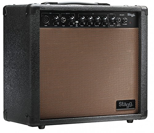 Stagg 20 AA R USA 20 Watt RMS Acoustic Guitar Amplifier with Spring Reverb by Stagg