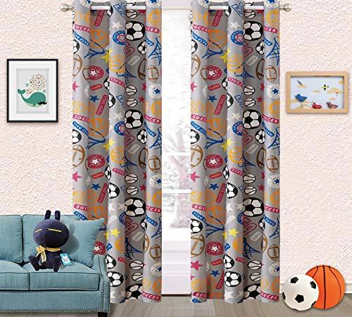 (  Sapphire Home Kids Boys Teens 2 Window Curtain Panels 84